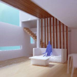 新しいプロジェクト『囲んだテラスに開いた2階リビングの家』をWorksのHousesに掲載しました。